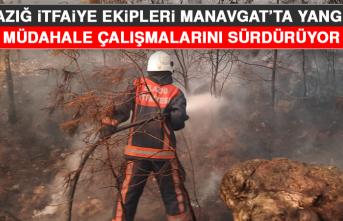 Elazığ Belediyesi İtfaiye Müdürlüğü Ekipleri, Manavgat'ta Yangına Müdahale Çalışmalarını Sürdürüyor