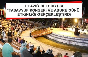 """Elazığ Belediyesi """"Tasavvuf Konseri ve Aşure Günü"""" Etkinliği Gerçekleştirdi"""
