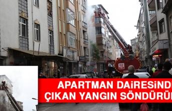 Elazığ'da Apartman Dairesinde Çıkan Yangın Söndürüldü
