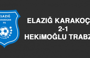 Elazığ Karakoçan 2-1 Hekimoğlu Trabzon