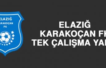 Elazığ Karakoçan FK, Tek Çalışma Yaptı