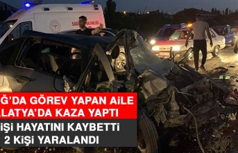 Elazığ'da Görev Yapan Aile Malatya'da Kaza Yaptı!