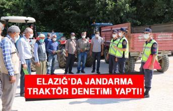 Elazığ'da Jandarma, Traktör Denetimi Yaptı