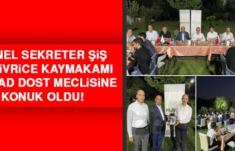 Genel Sekreter Şiş ve Sivrice Kaymakamı MÜSİAD Dost Meclisine Konuk Oldu