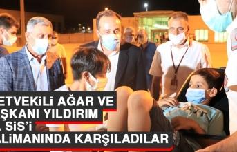Milletvekili Ağar ve İl Başkanı Yıldırım Taha Sis'i Havalimanında Karşıladılar