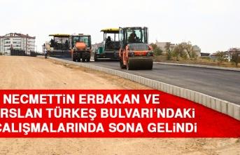 Necmettin Erbakan ve Alparslan Türkeş Bulvarı'ndaki Yol Çalışmalarında Sona Gelindi