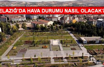 15 Eylül'de Elazığ'da Hava Durumu Nasıl Olacak?
