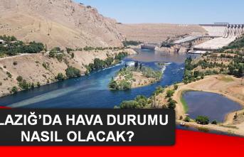 16 Eylül'de Elazığ'da Hava Durumu Nasıl Olacak?