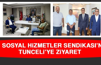 Aile Sosyal Hizmetler Sendikası'ndan Tunceli'ye Ziyaret