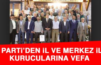 AK Parti'den İl ve Merkez İlçe Kurucularına Vefa