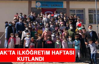 Arıcak'ta İlköğretim Haftası Kutlandı