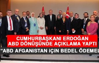Cumhurbaşkanı Erdoğan ABD Dönüşünde Açıklama Yaptı