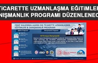Dış Ticarette Uzmanlaşma Eğitimleri ve Danışmanlık Programı Düzenlenecek