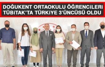Doğukent Ortaokulu Öğrencileri TÜBİTAK'ta Türkiye 3'üncüsü Oldu