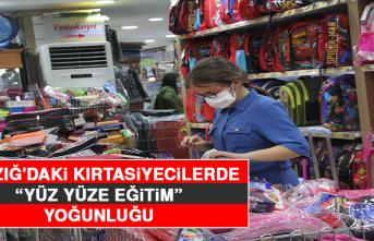 """Elazığ'daki Kırtasiyecilerde """"Yüz Yüze Eğitim"""" Yoğunluğu"""