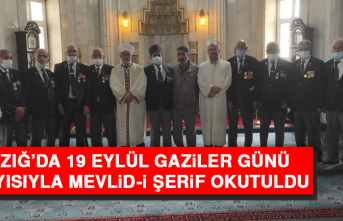 Elazığ'da 19 Eylül Gaziler Günü dolayısıyla Mevlid-i Şerif Okutuldu