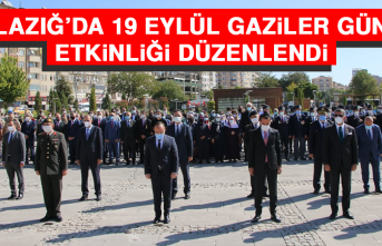 Elazığ'da 19 Eylül Gaziler Günü Etkinliği Düzenlendi