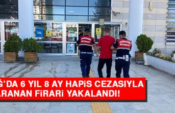 Elazığ'da 6 Yıl 8 Ay Hapis Cezasıyla Aranan Firari Yakalandı
