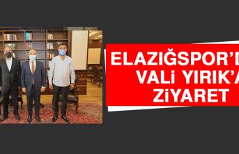 Elazığspor'dan, Vali Yırık'a Ziyaret