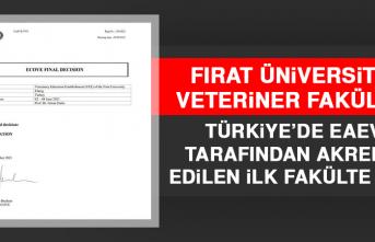 FÜ Veteriner Fakültesi Türkiye'de Eaeve Tarafından Akredite Edilen İlk Fakülte Oldu