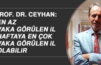 Hemşehrimiz Prof. Dr. Ceyhan: En Az Vaka Görülen İl Haftaya En Çok Vaka Görülen İl Olabilir