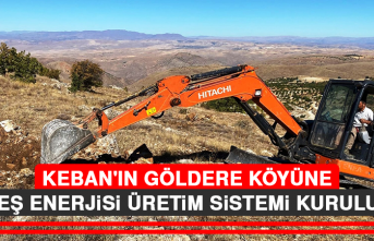 Keban'ın Göldere Köyüne Güneş Enerjisi Üretim Sistemi Kuruluyor
