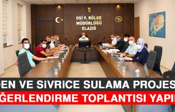 Maden ve Sivrice Sulama Projesinin Değerlendirme Toplantısı Yapıldı