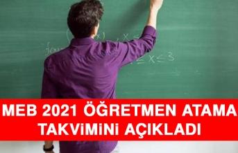 MEB 2021 Öğretmen Atama Takvimini Açıkladı