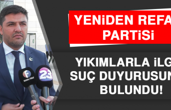 Yeniden Refah Partisi'nden Yıkımlarla İlgili Suç Duyurusu