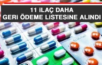 11 İlaç Daha Geri Ödeme Listesine Alındı