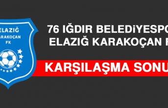 76 Iğdır Belediyespor 2 – 2 Elazığ Karakoçan FK