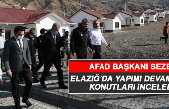 AFAD Başkanı Sezer, Elazığ'da Yapımı Devam Eden Konutları İnceledi