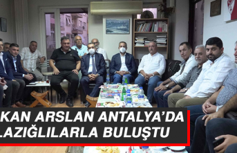 Başkan Arslan Antalya'da Elazığlılarla Buluştu