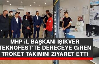 Başkan Işıkver TEKNOFEST'te Dereceye Giren Troket Takımını Ziyaret Etti
