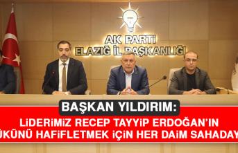 Başkan Yıldırım: Liderimiz Recep Tayyip Erdoğan'ın Yükünü Hafifletmek İçin Her Daim Sahadayız