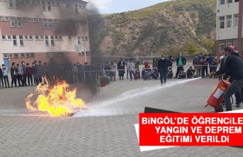 Bingöl'de Öğrencilere Yangın Ve Deprem Eğitimi Verildi