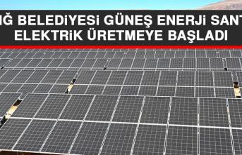 Elazığ Belediyesi Güneş Enerji Santrali Elektrik Üretmeye Başladı