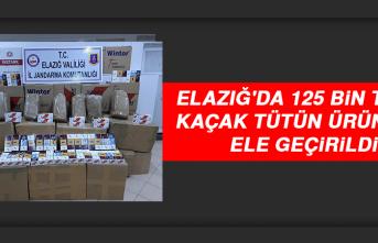 Elazığ'da 125 Bin TL'lik Kaçak Tütün Ürünleri Ele Geçirildi