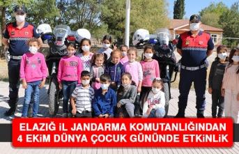 Elazığ İl Jandarma Komutanlığından 4 Ekim Dünya Çocuk Gününde Etkinlik