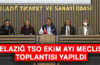 Elazığ TSO Ekim Ayı Meclis Toplantısı Yapıldı