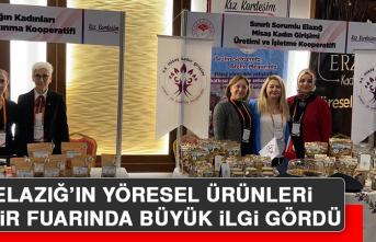 Elazığ Yöresel Ürünleri İzmir Fuarında İlgi Gördü