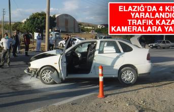 Elazığ'da 4 Kişinin Yaralandığı Trafik Kazası Kameralara Yansıdı