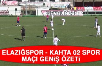 Elazığspor - Kahta 02 Spor Maçı Geniş Özeti