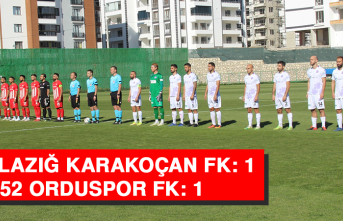 HD Elazığ Karakoçan FK: 1 - 52 Orduspor FK: 1