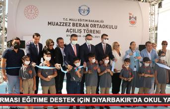 İlaç Firması Eğitime Destek İçin Diyarbakır'da Okul Yaptırdı