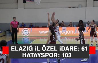 Kadınlar Basketbol Süper Ligi: Elazığ İl Özel İdare: 61 - Hatayspor: 103