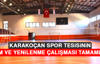Karakoçan Spor Tesisinin, Bakım ve Yenilenme Çalışması Tamamlandı
