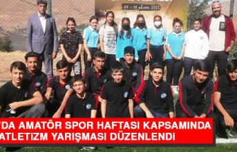 Keban'da Amatör Spor Haftası Kapsamında Atletizm Yarışması Düzenlendi