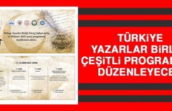 Türkiye Yazarlar Birliği Çeşitli Programlar Düzenleyecek