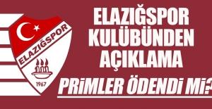 Elazığspor'da Primler Ödendi mi?